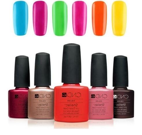 gel nail polish long lasting soak off cnd shellac uv/led