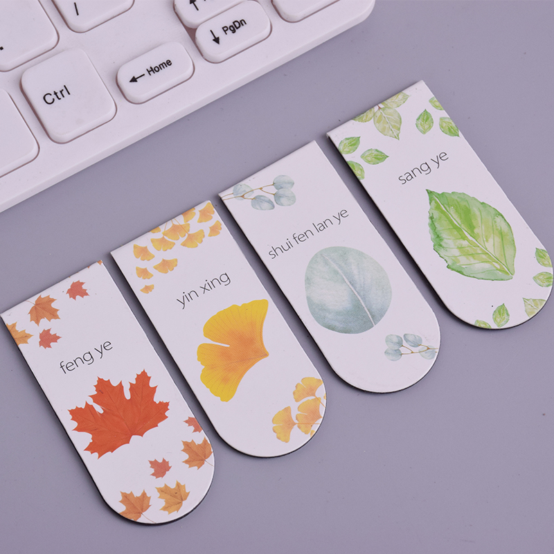 Beautiful Ginkgo Leaves Magnetic Force Bookmark Material Escolar Magnetic Bookmarks For Book Stationery