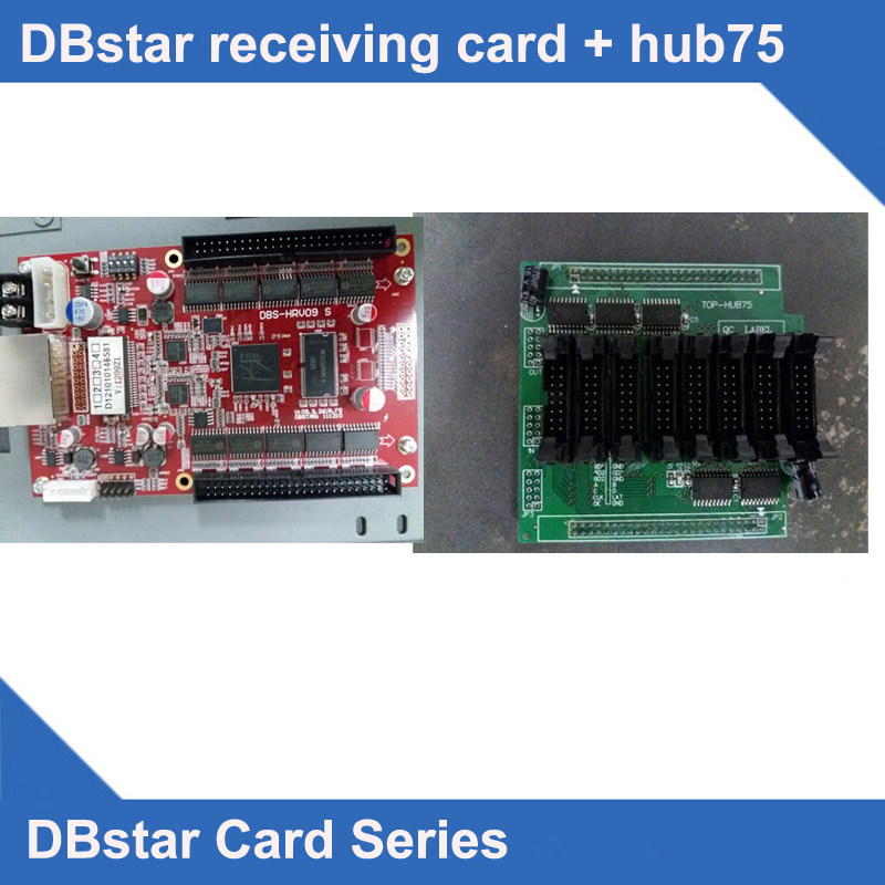 DBS-HRV09 TOP-HUB75 DBSTAR Full Color LED Receiving Card ONLY ,led Display Control System For Itallo