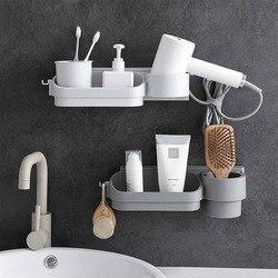 OTHERHOUSE łazienka stojak do przechowywania półki półka do montażu na ścianie suszarka do włosów uchwyt szampon półka kosmetyczna uchwyt łazienka organizator