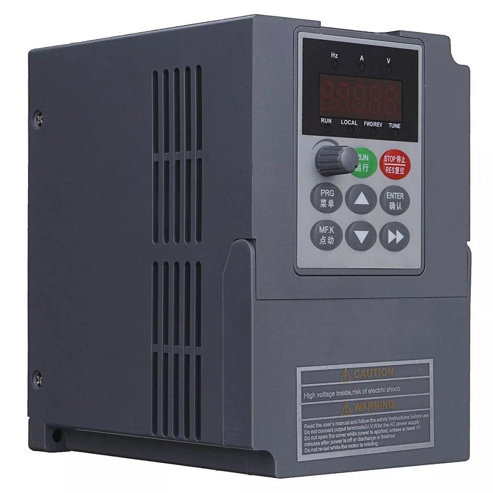 2.2KW 380V 3 相入力 VFD 周波数インバータ 3 相三相出力モータ速度制御周波数ドライブコンバータ 50 /60Hz  グループ上の 家のリフォーム からの インバーター & コンバーター の中 2