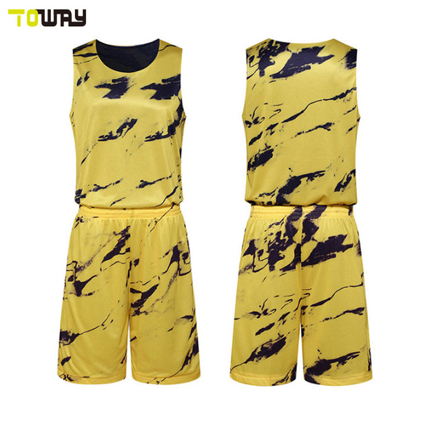 Custom 2018 Jersey Designs For Basketball Black Yellow In Basketball