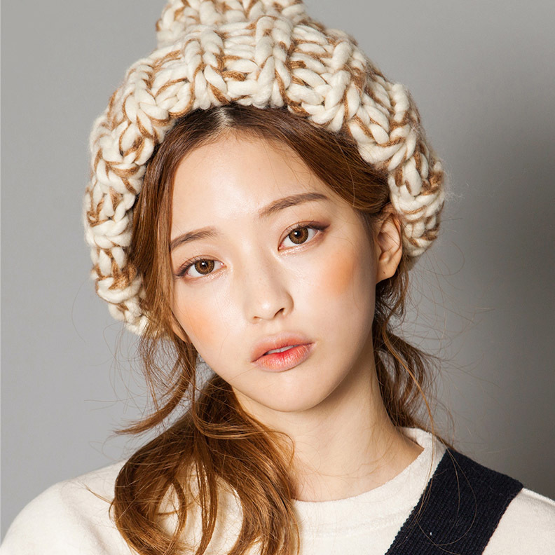 Korean winter witch new thickened thick line pointed hat knitting wool hat women knitted hats warm