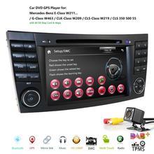 2019ใหม่รถDVD PlayerสำหรับMercedes Benz E Class W211 W209 W219วิทยุสเตอริโอGPSนำทางระบบDAB BT USBฟรี + 8GMap
