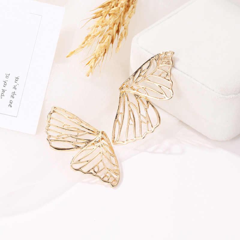 أجنحة بروش للنساء أقراط مطعمة الكريستال الأذن مجوهرات القرط حزب القوطية ريشة الأقراط الأزياء بيجو