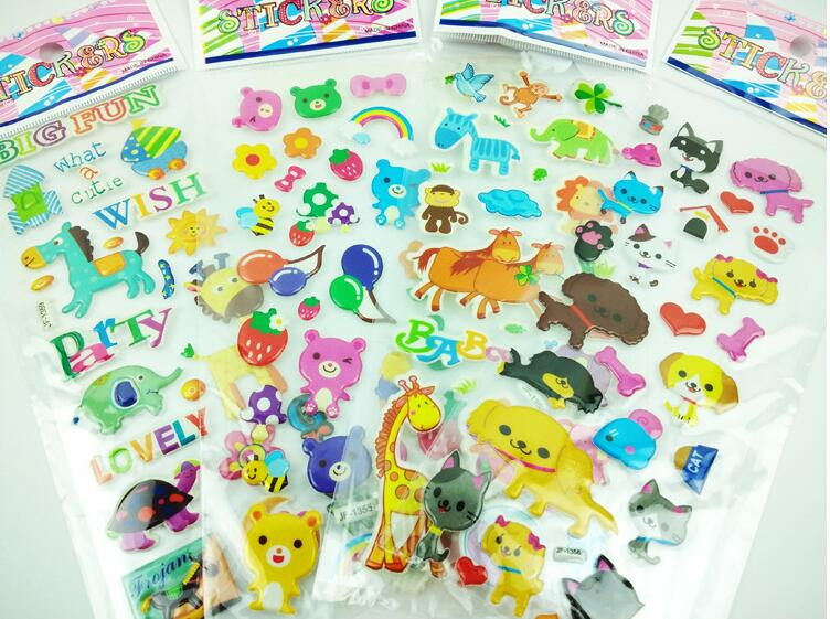 50pcs / lot niños pegatinas juguetes clásicos patrones mixtos para - Juguetes clásicos - foto 4