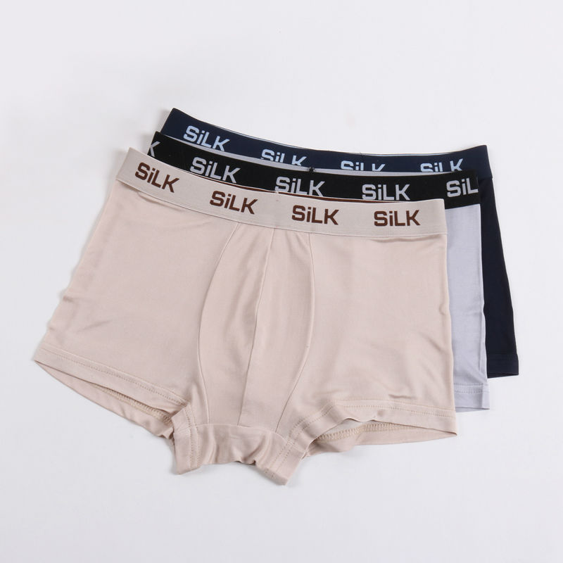 Image 5 - MEN BOXER shorts 100%Natural Silk Mens panties Healthy Solid panties lingerie calcinha shorts underwear calzoncillos-in Boxers from Underwear & Sleepwears on AliExpress