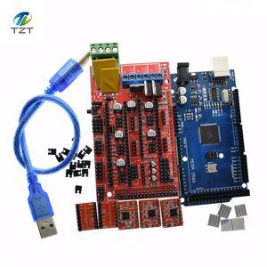 Image 2 - Mega 2560 R3 para Arduino + 1 Uds., controlador 1,4 + 5 uds. Módulo controlador A4988 paso a paso, kit de impresora 3D Reprap MendelPrusa