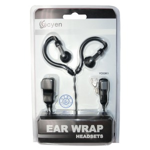 Image 5 - G Şekli Kulak Kancası 2 adet Mic Kulaklık Walkie Talkie Kulaklık Kenwood Için Baofeng Linton Wouxun Puxing 2 pin Radyo