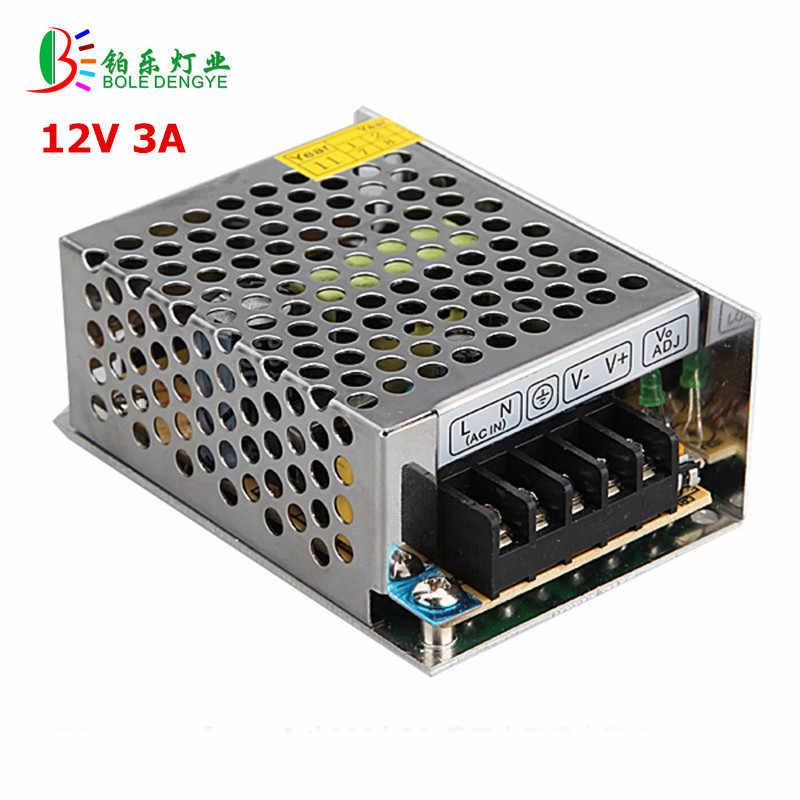 LED zasilacz AC 220 V do DC 12 V LED sterownik 2A 3A 5A 10A 15A 20A zasilacz niskie napięcie transformatory oświetleniowe do taśmy LED
