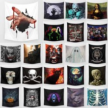 Funny animal halloween skull skeleton bat  pumpkin pattern wall hanging tapestry home decoration wall tapestry tapiz pared pumpkin lamp wall art halloween tapestry