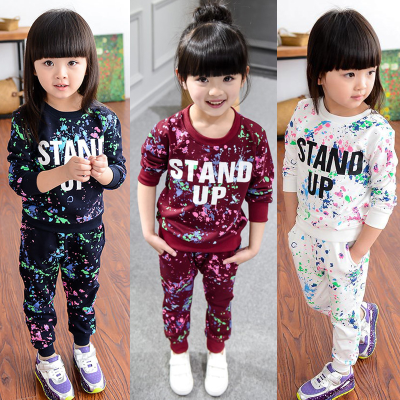 ee77df265 Children Clothing 2019 Autumn Spring Girls Clothes Set Outfit Kids Clothes  Girl Sport Suit For Girl Clothing Sets 3 4 5 6 7 Year