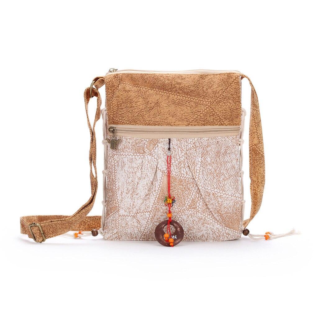 Vintage Elegant Women Patchwork Beading Handmade Handbags Folk Style  Features Bag Ladies Canvas Shoulder Messenger Crossbody Bag b7e4e604c87b5