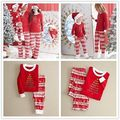 Fashion New Children Adult Family Matching Sets Christmas Pajamas Sleepwear Nightwear Pyjamas Sets