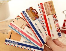 Freeshipping! New vintage travel London &  Paris animals Notepad / colorful memo sticky note label Wholesale