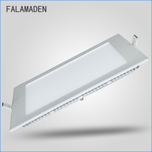 LED Ceiling Panel Light Dimmable, 6W 12W 18W 24W High brightness Downlight, with adapter AC85-265V indoor Lights