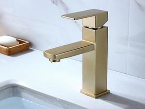 Image 1 - ステンレス鋼シンク蛇口起毛ゴールドカラー浴室の滝の蛇口ミキサー壁タップバニティ torneira 浴室の蛇口 BL024