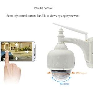 Image 2 - VStarcam bezprzewodowe PTZ kamera IP kopułkowa na świeżym powietrzu 720P HD 4X Zoom bezpieczeństwa CCTV wideo sieci obserwacja IP kamera Wifi