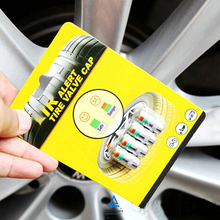 2014 NEW 2.4bar 36PSI Car Safety Tire Pressure Warning Air Valve Indicators Tire Monitor Alert Valve Stem Cap (4-Piece Pack)