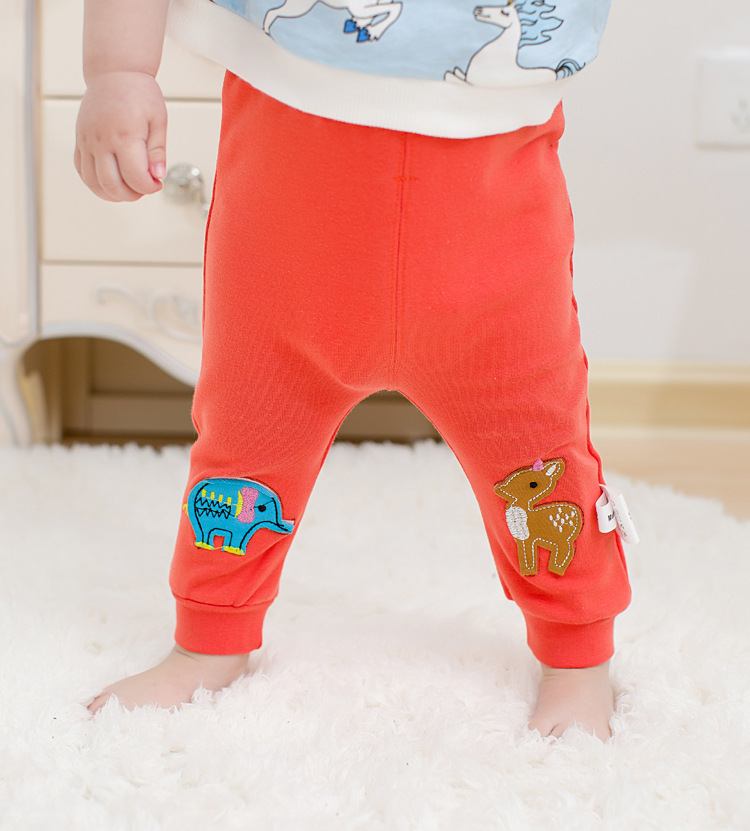 Casual Toddler Trousers Baby Bottoms Pants Infant Boys Girls Cartoon Cute elephant deer sports Pants baby clothes drop shipping (10)