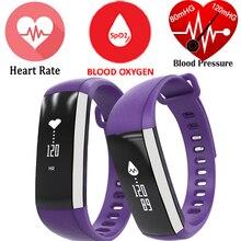 M2 Bande À Puce de Tension Artérielle D'oxygène Oxymètre de Fréquence Cardiaque Bluetooth Bracelet Sport Santé Inteligente Banda Pour iOS Android Téléphone