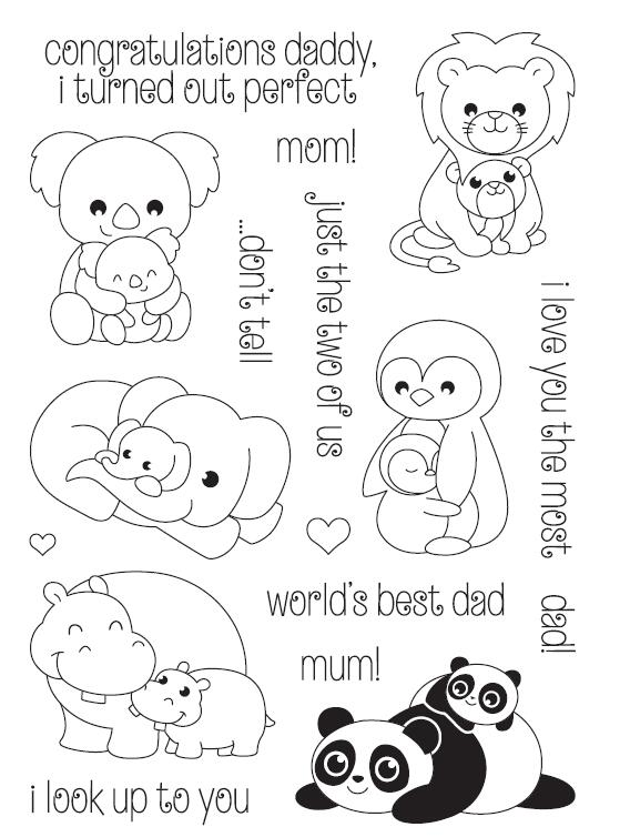 Parents Cartoon Animal Transparent Clear Silicone Stamp/Seal for DIY scrapbooking/photo album Decorative clear stamp sheets A548 lovely animals and ballon design transparent clear silicone stamp for diy scrapbooking photo album clear stamp cl 278