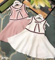 New 2019 Baby Girls Summer Cotton Hollow Out Floral Vest Dresses, Princess Children Dress 5 pcs/lot, Wholesale Free Shipping