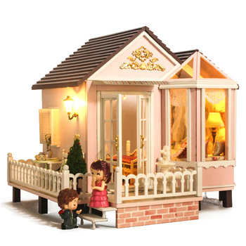 Interesting Dollhouse Sweet Promise 3D Assembly DIY Household Creative House Kit Learning Toy For Kid Christmas Gifts