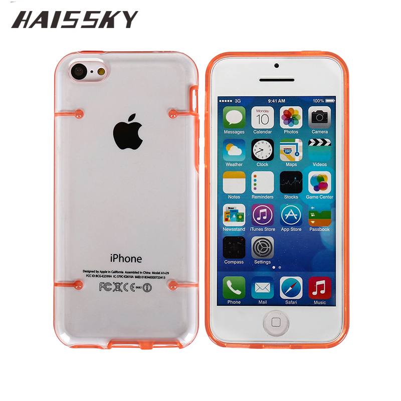 Haissky Luxury Clear Case For iPhone 5C Transparent Hard ...