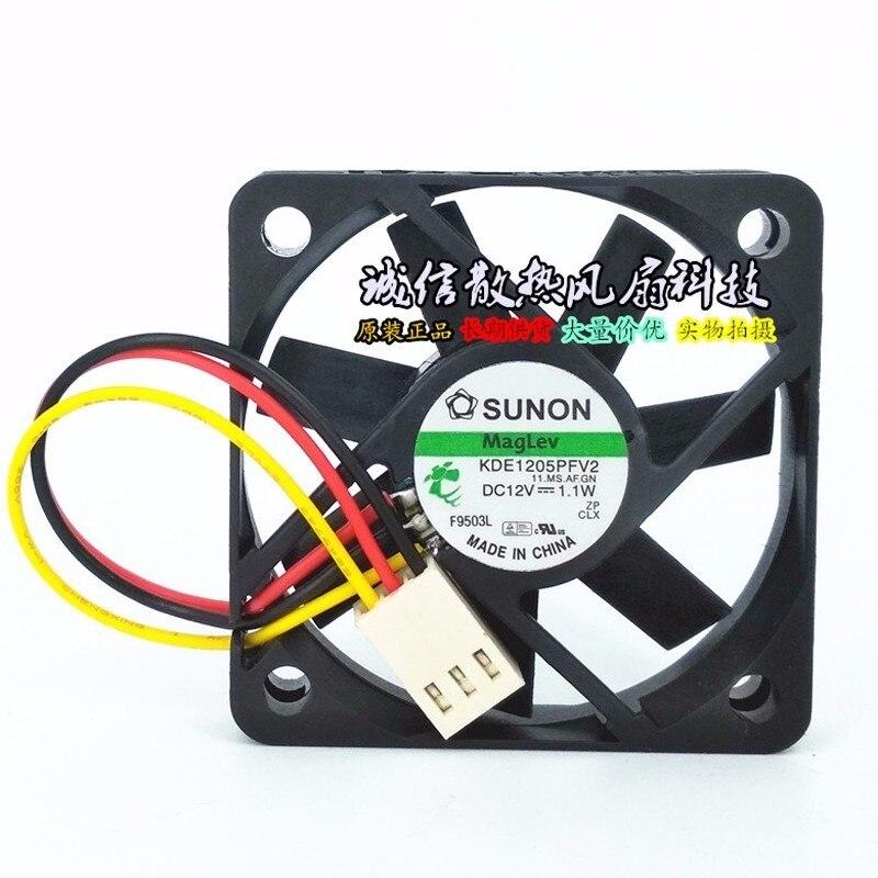 Sunon KDE1205PFV2 Maglev 5CM 50x50x10mm DC 12V 1.1W 3 Lines Computer Cpu Inverter Server Axial Cooling Fan