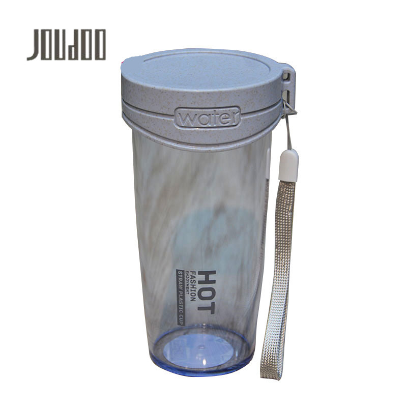 JOUDOO 350ML Straw Plastic Portable Water Bottles With Rope BPA Free My Bottles Outdoor Sport Camping Drinkware