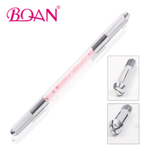 1 PC Double Tips Rhinestone Manual Microblading Needle Permanent Eyebrow Pencil Tool