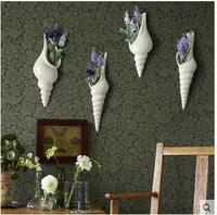 European contracted and contemporary ceramic shell wall act the role ofing TV setting wall decorative wall hanging hydroponic