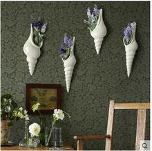 European contracted and contemporary ceramic shell wall act the role ofing TV setting decorative hanging hydroponic