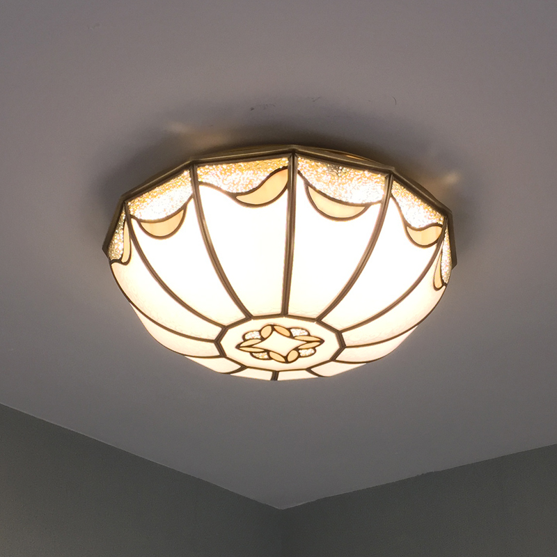 European style rural Ceiling Lights American style copper Chinese style retro bedroom study balcony ceiling lamps LU726239|ceiling lamp|ceiling lights|bedroom ceiling lamps - title=