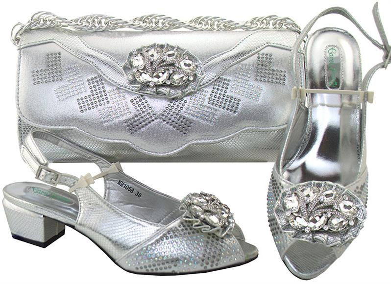 Italian Design Shoes With Matching Bag Set For Women New Wedding Party Pumps Arrival African Fashion Shoes MM1058 Med Heel italian design shoes with matching bag set for wedding party new arrival african fashion women pumps shoes and bags mm1055