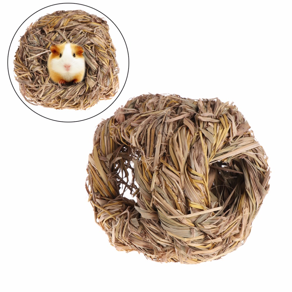 1Pc Hamster Nest Natural Grass Small Pet Animal Toys Cage House For Chinchilla Guinea Pigs Small Animal Supplies C42