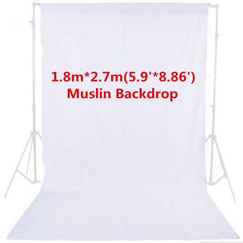 1 8m x 2 7m Photo Studio White Photography Backdrop 100 Cotton High Quality Solid Muslin