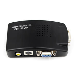 RCA Composite AV S-Video to VGA Converter Box CCTV DVR PC Laptop to TV Projector VGA Input to VGA Output Video Converter Adapter