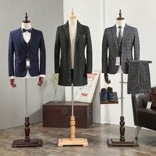 Metade do corpo manequim masculino adereços cânhamo algodão pano manequim manequim com braços sólidos mão e sapatos de tecido dos homens calças racks