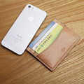LAN  genuine leather men's credit card holder handmade small coin purse bank card case ID holder