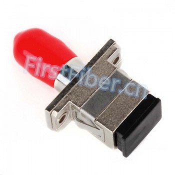 FirstFiber SC-ST Hybrid Simplex Female to Female fiber optic Adapter, fiber Connector image