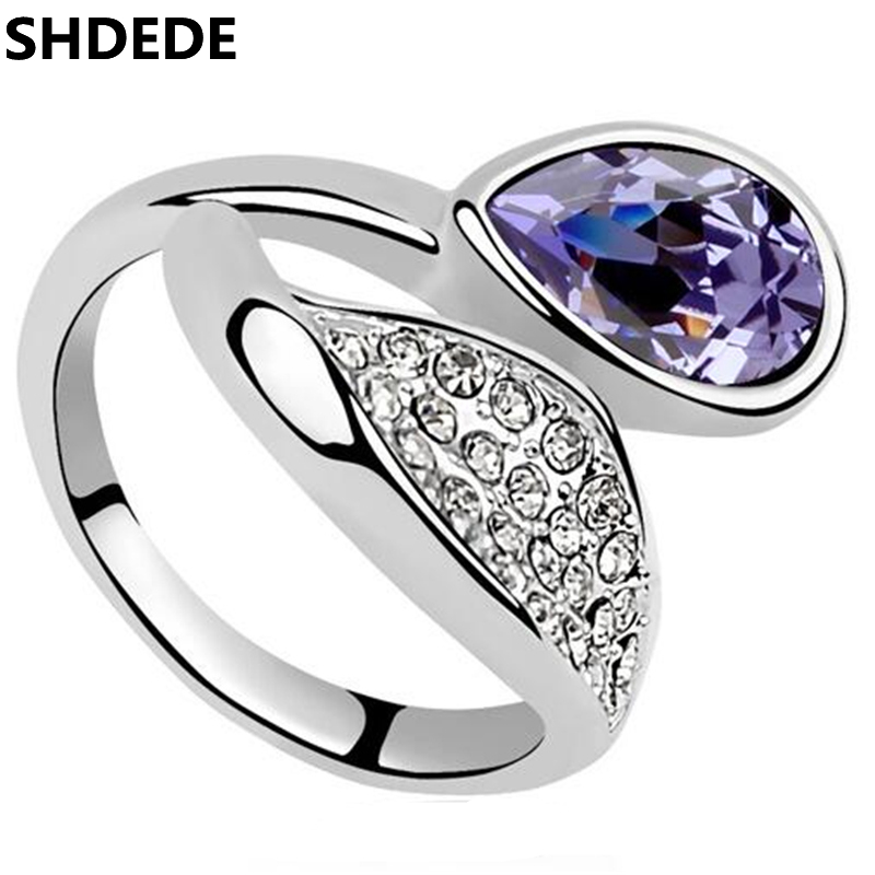SHDEDE Wedding Engagement Rings Crystal from Swarovski 2018 New Fashion Jewelry Womens Accessories -8100