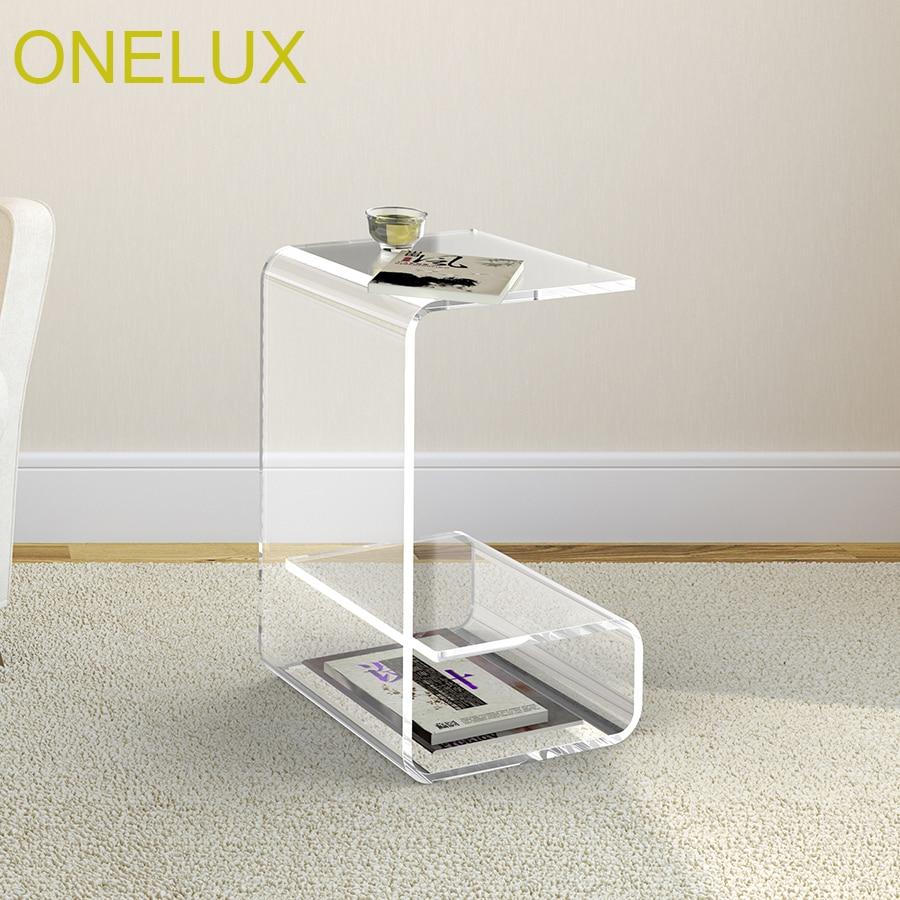 Водопад акриловые диван столик с журналом стойку, lucite иногда небольшой Чай таблице-30 Вт 35d 50 h см