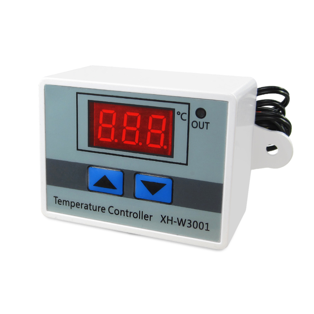 5PCS New 220V <font><b>W3001</b></font> Digital LED Temperature Controller 10A Thermostat Control Switch Probe <font><b>XH</b></font>-<font><b>W3001</b></font> image
