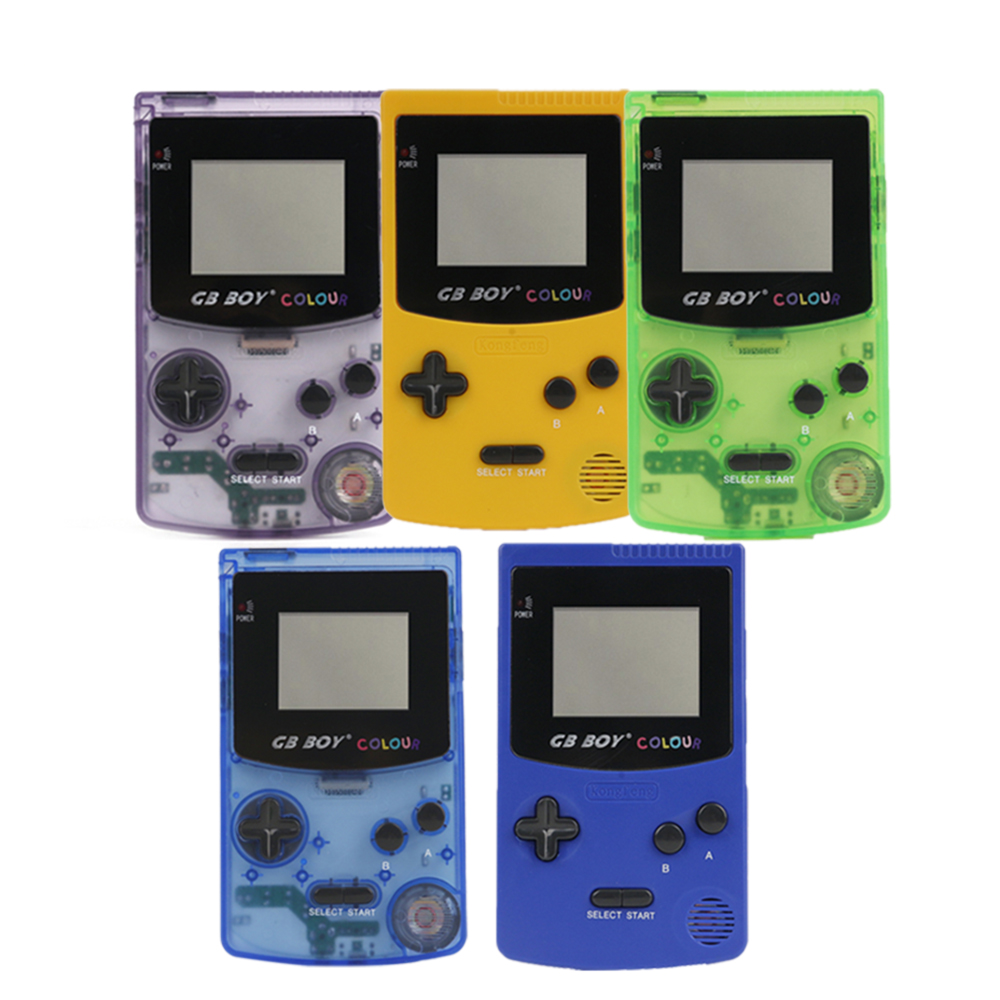 GB Boy Color Colour Portable Game Console Games Player 2.7 Classic Child Handheld Game Consoles With Backlit 66 Built-in Games image