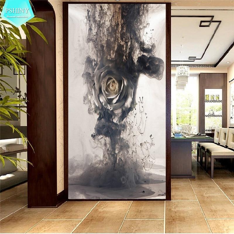 Pshiny 5D DIY Алмаз вышивка продажа чернил роза цветы картина мозаики комплект Полный Круглый Rhinestone алмаз живопись Крест стич