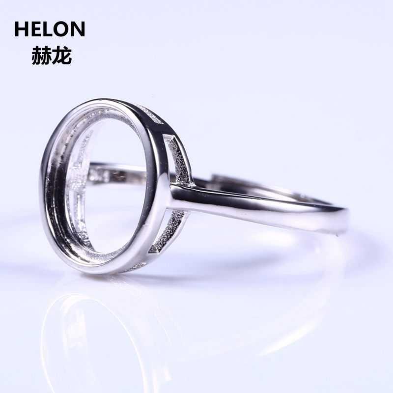 เงินสเตอร์ลิง 925 สีขาวทองหมั้นงานแต่งงานแหวนสำหรับ 8x10 มม. รูปไข่ Cabochon Amber Agate โอปอลการตั้งค่าเครื่องประดับ
