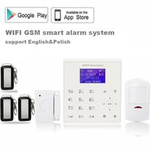 433mhz Wireless wifi gsm alarm system for home security burglar alarm Android/IOS APP control Cloud service +PIR detector