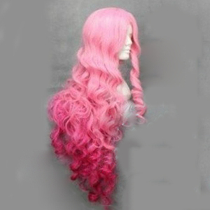 Image 4 - HAIRJOY Synthetic Hair Tsukimiya Ringo in Prince of Song  Cosplay Wig  Red Pink Ombre Curly Wigs